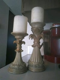 two brown wooden base table lamps Kennewick, 99336