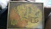 Wooden framed middle earth map St. Catharines, L2P 2Y4