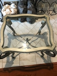 Glass end table very heavy