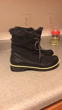 pair of black suede boots Raleigh, 27606