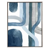 blue and white abstract painting Parkland, 33076