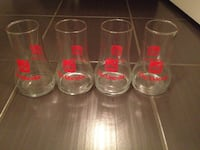 Retro 7-Up drinking glasses