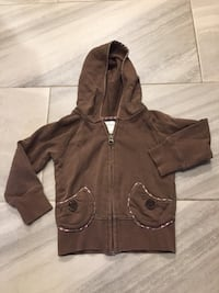 Toddler zip up hoodie size 2