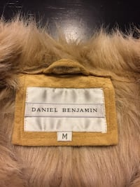 Brown furry coat ...suede worn only a few times !