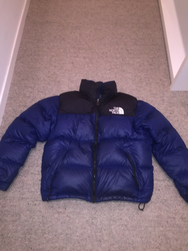 Blue north face jacket size S