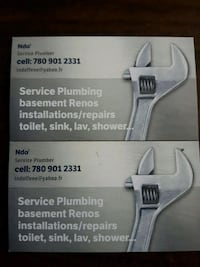 Licenced plumber who can do all you plumbing work. Edmonton