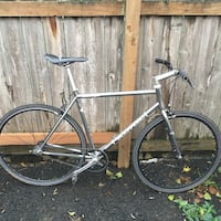 Chrome and black road bike(56cm) Falls Church, 22044