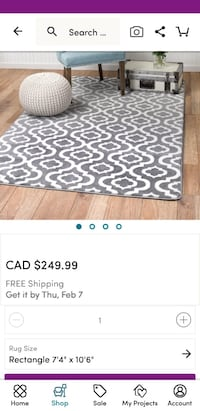 white and black leopard print area rug screenshot Mississauga