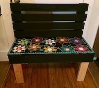 Hand built & painted bench Norman, 73069