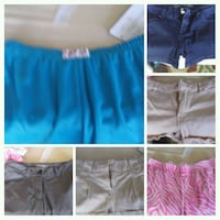 6 pair womens shorts size 0-2 Henderson, 89002