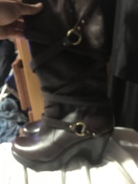 micheal kors high boots leather 7 1/2 Edmonton