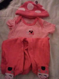 toddler's red and white striped shirt and shorts Westmont, 60559