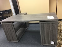 Wood office desk with filing cabinet. Brand new.  Lewisville, 75057