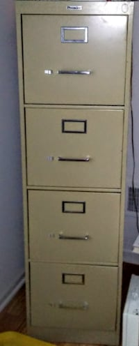 Tan Metal 4 drawer and Filing Cabinet Manchester