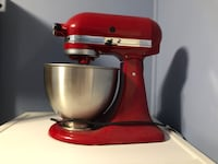 Red Kitchen Aid Mixer Never Used