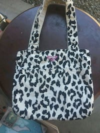 white and black leopard print tote bag Medford, 97501
