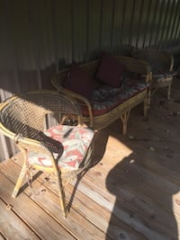 Antique Rattan furniture. Includes pads and pilows as shown   273 mi