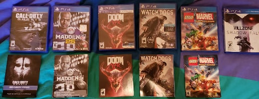 6 PS4 Games for 20 each