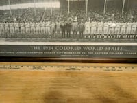Framed Photo 1924 Colored World Series Manteno, 60950