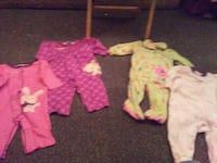 Baby Set of 4 long sleeve onsies 3 to 6 months Visalia, 93230