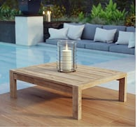 Modway EEI-2710-NAT Upland Outdoor Patio Wood, Coffee Table, Natural Las Vegas