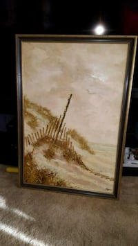 brown wooden framed painting of trees Toronto, M3H