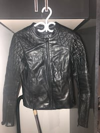 Black leather zip-up jacket Toronto, M2M 1V6
