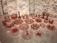 Pink Depression dishes - used for wedding