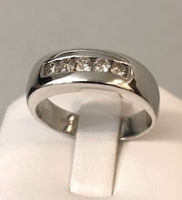14k white gold men's diamond wedding ring  band *Compare at $2,600 Vaughan, L4J