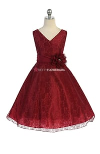 Girls burgundy sleeveless dress Jacksonville, 32209