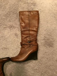 Real leather boots size 7