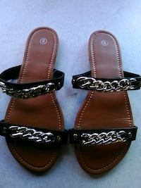 pair of brown leather sandals Lillian, 36549