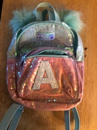Justice sequin A backpack