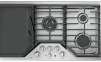 """Brand New GE Café Series 36"""" Stainless Steel Gas Cooktop CGP9536SLSS w/ Griddle Sterling, 20164"""