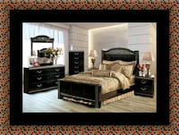 brown wooden bed frame and brown wooden bed frame Greenbelt