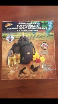 Wine & Beverage Tote Cooler with 2 wine glasses  Vancouver, V5W 2N5