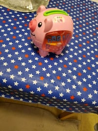 Talking Piggy bank with coins  Clear Brook, 22624