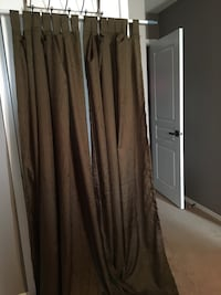 """2 tab top curtain panels 50"""" x 84. Some fading on the back of the panels Spruce Grove, T7X 4P6"""