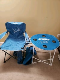Detroit Lions portable table and chair Macomb, 48042