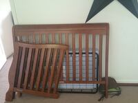 Cherry wood finish crib/toddler bed. Great condition comes with a sealy Serra mattress. Have two identical sets. Minor scratches on one.buy one set for 75 or both for 125$ Rock Hill, 12775