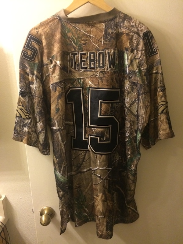 competitive price 8430b dd215 Denver Broncos Camo Jersey-Tim Tebow