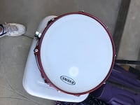 Brown and white Evans snare drum Yucaipa, 92399