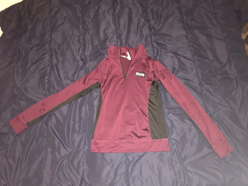 PINK half zip ULTIMATE sweater a77e11b5-4274-4937-bd33-a7dd0f53829a