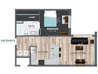 APT For rent 1BR 1BA Indianapolis