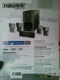 black and gray home theater system box Camp Springs, 20748