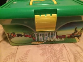 Battery operated toy train set