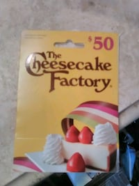Cheesecake factory 50$ Tustin, 92780