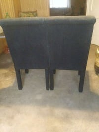 Suede high back chairs