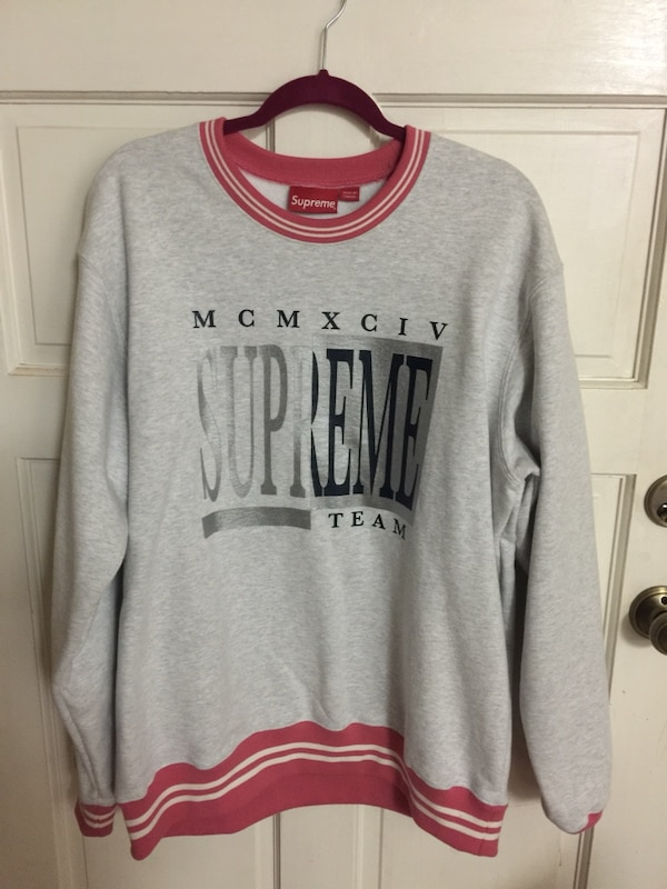 6d0a9c2cb78 Used Authentic supreme team sweater crew neck size XL for sale in ...