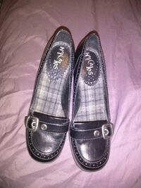 pair of black leather loafers Morganton, 28655
